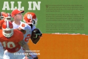 <h5>All In</h5><p>It&#039;s not all business for Clemson Football, and that&#039;s just how head coach Dabo Swinney likes it. Jack Ford Reports. Coleman Cowan is the producer.</p>